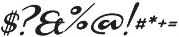 Monoment Slanted otf (400) Font OTHER CHARS