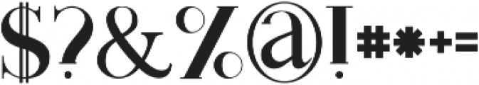 Monophone Regular otf (400) Font OTHER CHARS