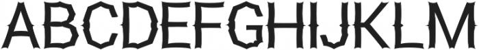 Monster otf (400) Font UPPERCASE