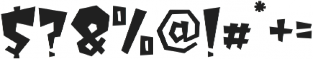 MonsterSquad Regular otf (400) Font OTHER CHARS
