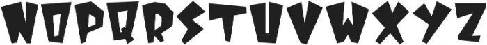 MonsterSquad Regular otf (400) Font UPPERCASE