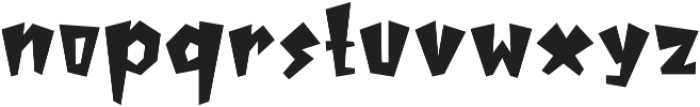 MonsterSquad Regular otf (400) Font LOWERCASE