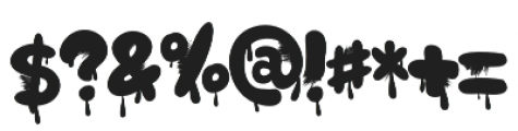 Monsterfield Bloody otf (400) Font OTHER CHARS