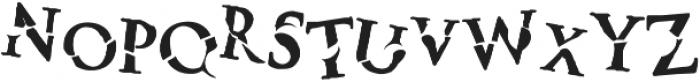 Monsters otf (400) Font LOWERCASE