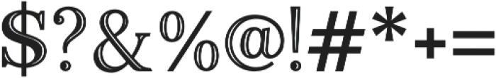 Monstice Emboss otf (400) Font OTHER CHARS
