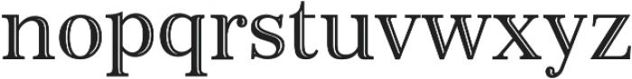 Monstice Emboss otf (400) Font LOWERCASE
