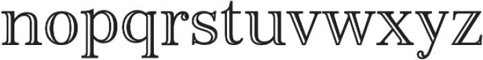 Monstice Engraved otf (400) Font LOWERCASE