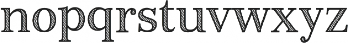 Monstice Hatched otf (400) Font LOWERCASE