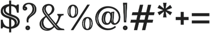Monstice Inline otf (400) Font OTHER CHARS