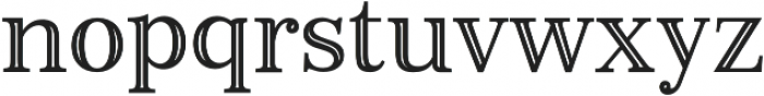 Monstice Inline otf (400) Font LOWERCASE