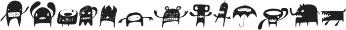 Monstrinhos otf (400) Font UPPERCASE