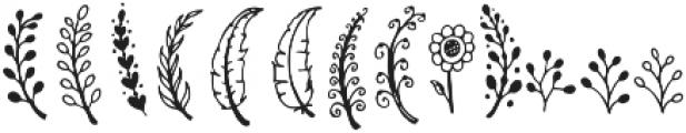 Monstterday Elements ttf (400) Font UPPERCASE