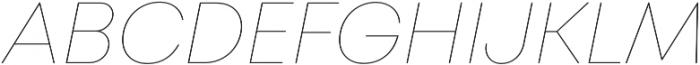 Mont Hairline Italic otf (100) Font UPPERCASE