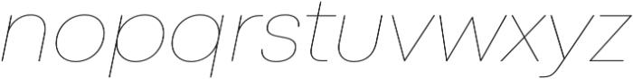 Mont Hairline Italic otf (100) Font LOWERCASE