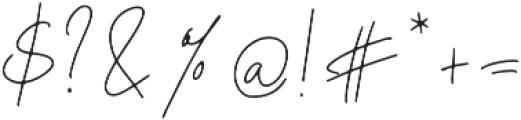Mont_Kiara_Script_Ligatures otf (400) Font OTHER CHARS