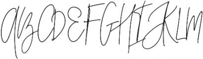 Mont_Kiara_Script_Ligatures otf (400) Font UPPERCASE