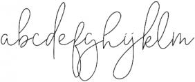 Mont_Kiara_Script_Ligatures otf (400) Font LOWERCASE