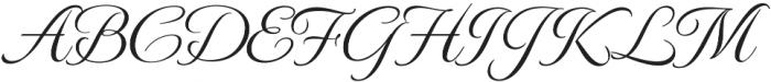 MonteCarloRegular otf (400) Font UPPERCASE