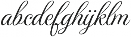 MonteCarloRegular otf (400) Font LOWERCASE