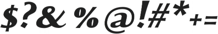 Monterchi Extrabold Italic otf (700) Font OTHER CHARS