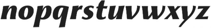 Monterchi Extrabold Italic otf (700) Font LOWERCASE