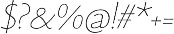 Monterchi Serif Thin Italic otf (100) Font OTHER CHARS