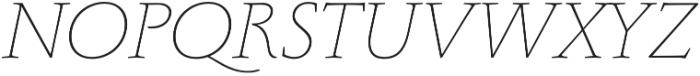 Monterchi Serif Thin Italic otf (100) Font UPPERCASE