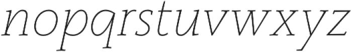 Monterchi Serif Thin Italic otf (100) Font LOWERCASE