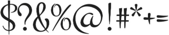 Montez Pro Regular otf (400) Font OTHER CHARS