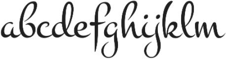 Montez Pro Regular otf (400) Font LOWERCASE