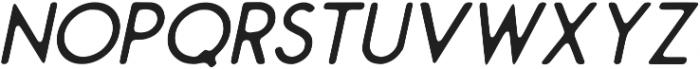 Montharo Inky Italic otf (400) Font UPPERCASE