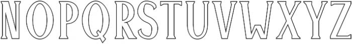 Montrell Outline otf (400) Font UPPERCASE
