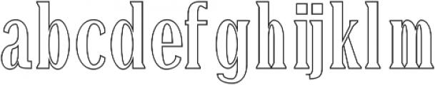 Montrell Outline otf (400) Font LOWERCASE