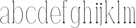 Montrell Thin otf (100) Font LOWERCASE