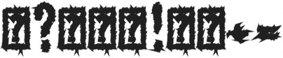 Monumental Purgatory Black ttf (900) Font OTHER CHARS