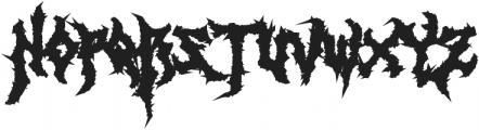 Monumental Purgatory Black ttf (900) Font UPPERCASE