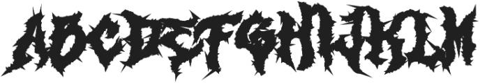 Monumental Purgatory Black ttf (900) Font LOWERCASE