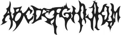 Monumental Purgatory Clean ttf (400) Font LOWERCASE