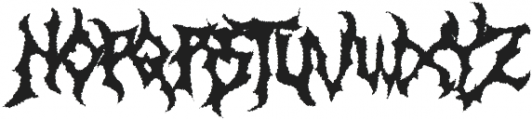 Monumental Purgatory Distorded ttf (400) Font UPPERCASE