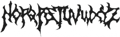 Monumental Purgatory Distorded ttf (400) Font LOWERCASE