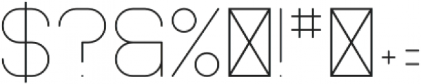 Mooka ExtraLight otf (200) Font OTHER CHARS