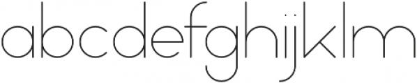 Mooka ExtraLight otf (200) Font LOWERCASE