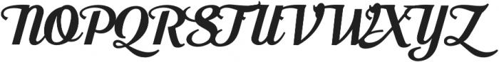 Moonface Script Bold otf (700) Font UPPERCASE