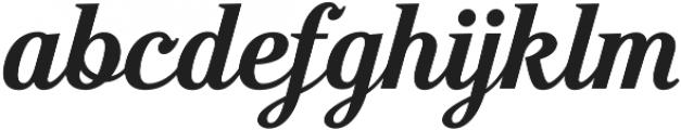 Moonface Script Bold otf (700) Font LOWERCASE