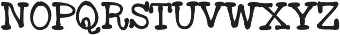 Moose ttf (400) Font UPPERCASE