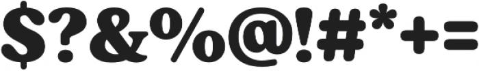Moranga Black otf (900) Font OTHER CHARS