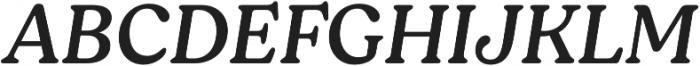 Moranga Regular It otf (400) Font UPPERCASE