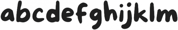 More Sugar Regular otf (400) Font LOWERCASE