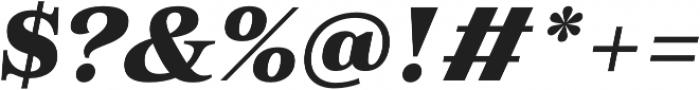 Morison Extrabold Italic otf (700) Font OTHER CHARS