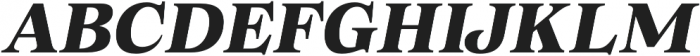 Morison Extrabold Italic otf (700) Font UPPERCASE